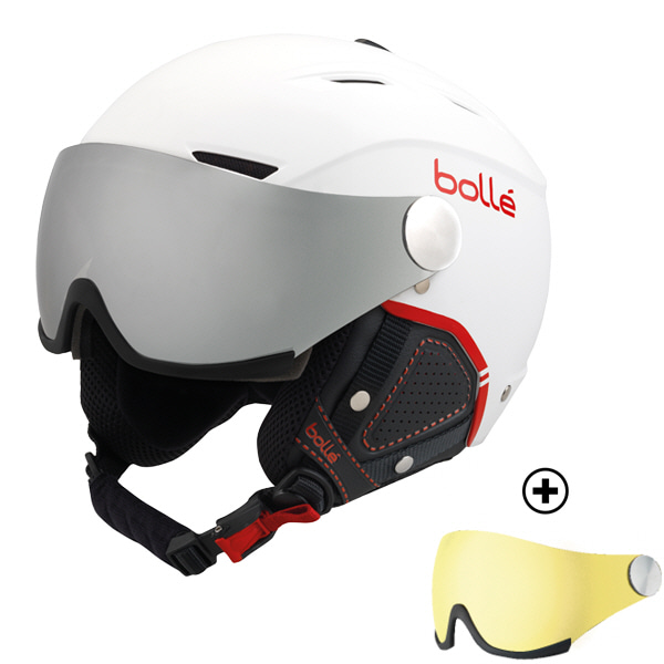 17/18[bolle]BACKLINE VISOR PREMIUM Soft White & RedSilver Gun & Lemon(렌즈 총 2개)