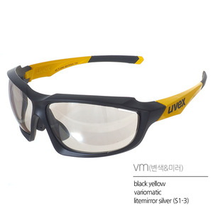 uvex sportstyle 710 vmblack mat yellow(유광/변색)Asian Fit