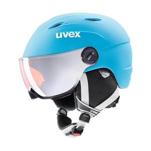 우벡스 스키헬멧1819 uvex junior visor proliteblue-white mat