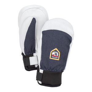 헤스트라 스키장갑HESTRA Army Leather Patrol Jr Mitt Light grey32451-320