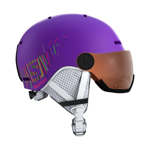 살로몬 주니어바이저1819 SALOMON GROM VISOR Purple Mat/Univ.