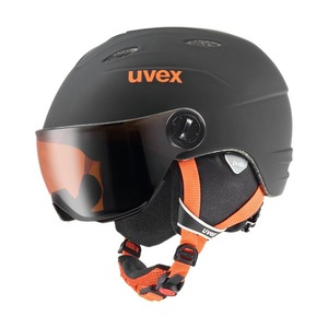 우벡스 스키헬멧1819 uvex junior visor problack-orange mat