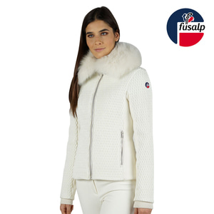 18 FUSALP MONTANA II WOMEN SKI JACKET OFF WHITE