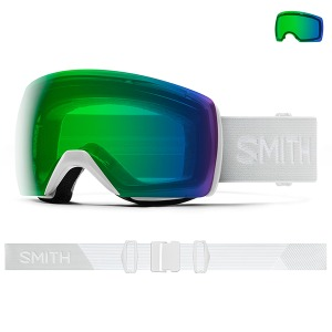 스미스 고글 19 SMITH Skyline XL 안경병용,도수클립 White Vapor + Everyday Green Mirror