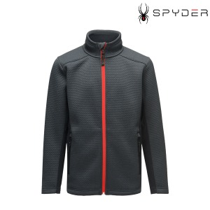 주니어미들러 20 SPYDER BOYS ENCORE FULL ZIP BLACK