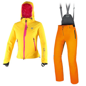 다이네즈스키복 15 DAINESE Nereide d dry Jacket Lady lemon + Ladies supream Pants Autumn glory